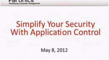 Webinar: Simplify Your Security with Application Control